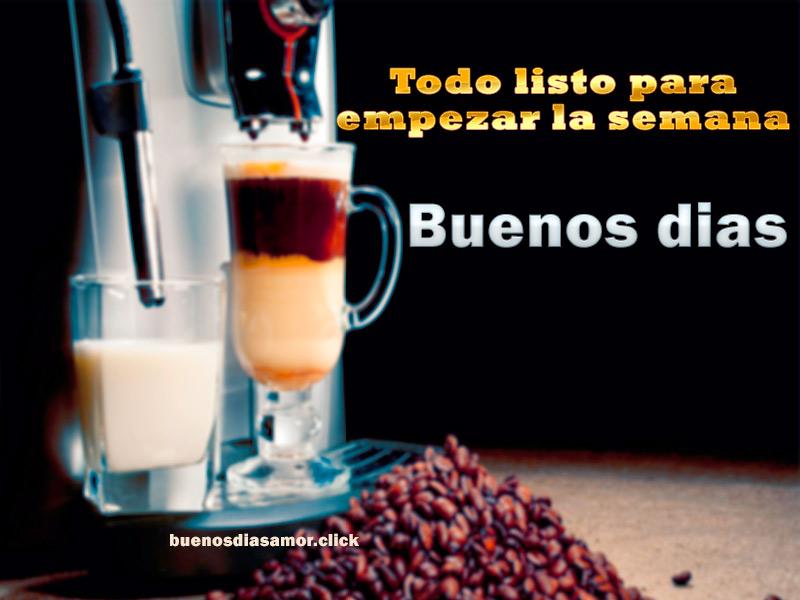 buenos dias lunes cafe expresso