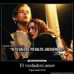 Imágenes de Titanic con Frases de Amor